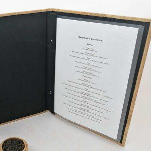 Carte menu hotel élégant