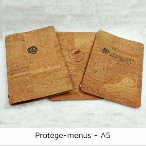 Protège menus original liège