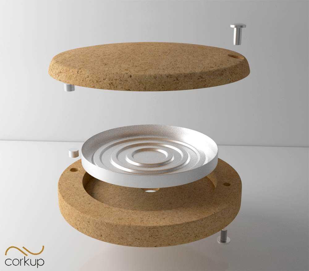 Conception dessin produit 3D liege