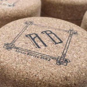 Boites matière naturel avec logo